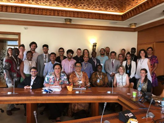 Group Picture with international LGBTIQ* activists and ILGA after a meeting with the Independent Expert at the UN Human Rights Council in Geneva in June 2019