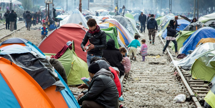 Refugee camp in Idomeni, Greece. Creator: Julian Buijzen. Creative Commons LizenzvertragThis image is licensed under Creative Commons License.